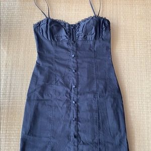 Guess Dresses - LBD! Guess Jeans Black Corset Dress with Lace Trim